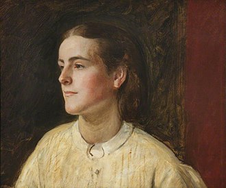Clara Mordan - Portrait of Clara Mordan by Henry Tanworth Wells
