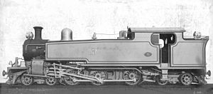 South African Class K 4-6-4T - Manila Railroad Company no. 161, possibly Class K no. 347, c. 1914