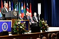 Class spokesperson Craig Wiles of the Drug Enforcement Administration addresses the graduates of the 270th session of the FBI National Academy.jpg