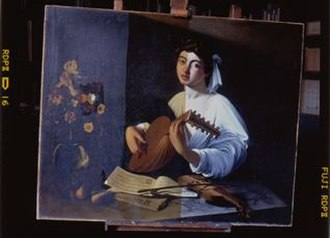 The Lute Player (Caravaggio) - Apollo Lute Player during cleaning
