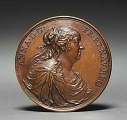 Medal of Anne of Austria (obverse) and (reverse)