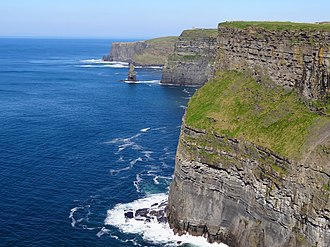 Cliffs of Moher - Looking north towards O'Brien's Tower