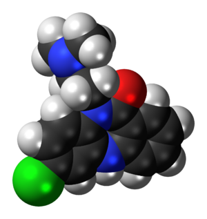 Clobenzepam - Image: Clobenzepam 3D spacefill