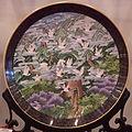 Cloisonné, large decorative plate.JPG