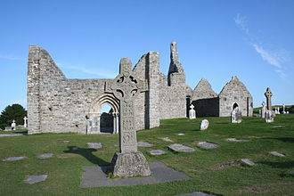 Clonmacnoise - Cross of the Scriptures, Cathedral, Temple Doolin and South Cross