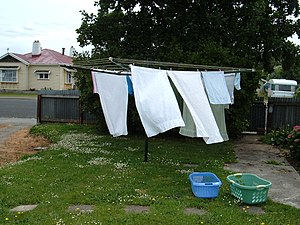 Clothes line - A rotary, or Hills Hoist, type of clothes line