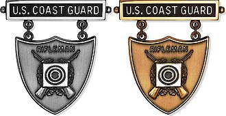 Awards and decorations of the United States Coast Guard - Image: Coast Guard Rifleman EIC Badge