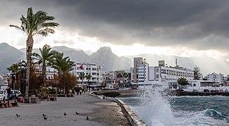 Coast with Dome Hotel, Kyrenia, Northern Cyprus 04.jpg