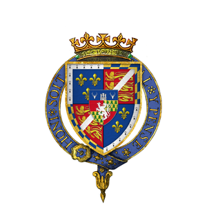 Henry FitzRoy, 1st Duke of Richmond and Somerset - Arms of Sir Henry Fitzroy, KG, at the time of his installation as a knight of the Most Noble Order of the Garter