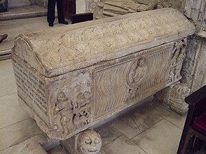 Fernán González of Castile - Sarcophagus of Sancha Sánchez, Queen of León, Countess of Álava and later of all Castile