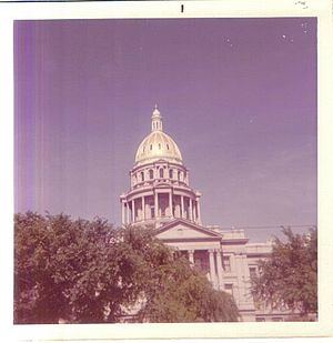 Colorado State Capitol - The state capitol as it appeared in 1972