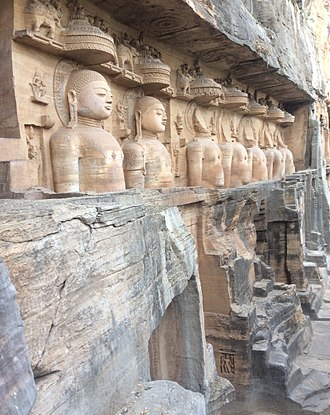 Siddhachal Caves - Colossal Jain statues in Gwalior