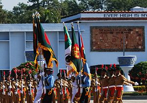 Bangladesh Military Academy - Colours contingent in the passing out parade