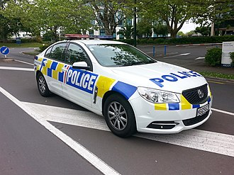New Zealand Police - Holden Commodore VF Evoke currently being used by the New Zealand Police