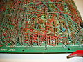 Computerplatine Wire-wrap backplane detail Z80 Doppel-Europa-Format 1977.jpg
