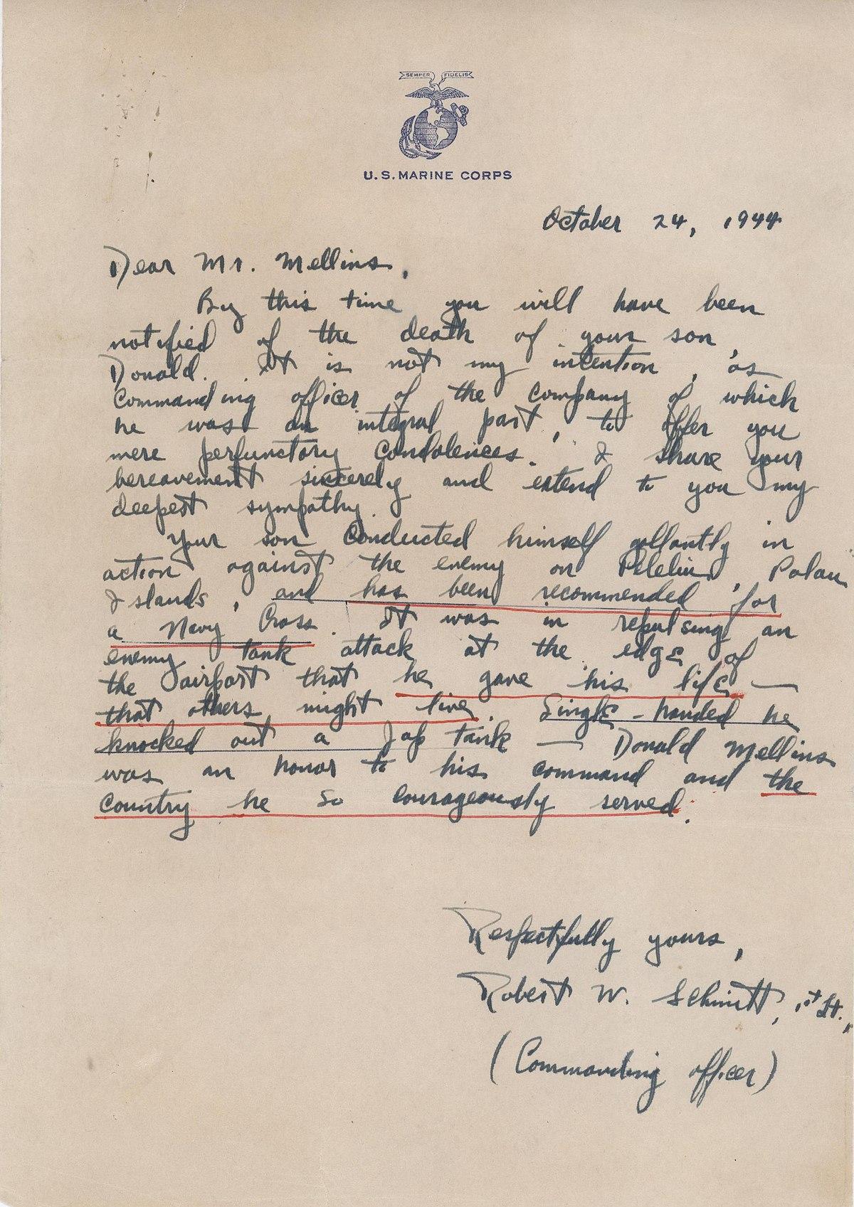 filecondolence letter 24 october 1944 8778798899