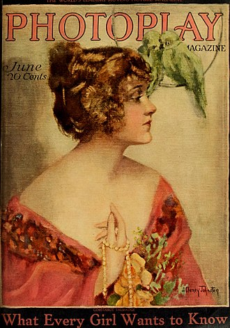 Constance Talmadge - On the cover of Photoplay magazine, 1919
