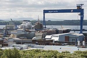 HMS Scotia (shore establishment) - Image: Construction of the HMS Queen Elizabeth. MOD 45157298
