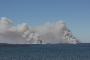 2011–12 Australian bushfire season - Controlled burn off on North Stradbroke Island