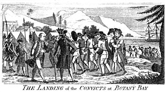 Convict - Convicts at Botany Bay, New South Wales, 1789