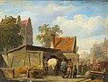 Cornelis Springer - Talking Shop at the Market.jpg