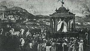 Marina Mniszech - Coronation of Maryna Mniszech in Moscow by Tommaso Dolabella.