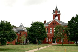 The historic court green in Accomac