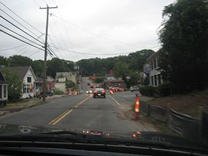 Coventry, Connecticut - The center of South Coventry, nearby Coventry Lake