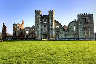 Culture of Sussex - Ruins of Cowdray House, Midhurst