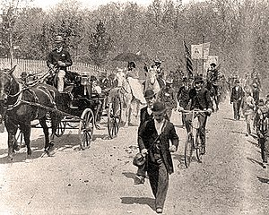 Coxey's Army - Coxey's Army marchers leaving their camp.