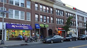Cranford, New Jersey - Stores in the downtown area.