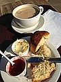 Cream tea, Vaults and Garden Cafe, University Church of St Mary the Virgin, Oxford, UK - 20130709.jpg