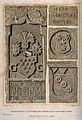Crests and coats-of-arms of several doctors from a bas-relie Wellcome V0016011.jpg