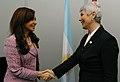 Cristina Fernandez con Jadranka Kosor.jpg