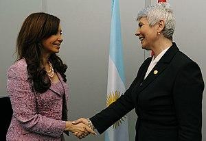 Jadranka Kosor - Kosor with Argentine President Cristina Fernandez de Kirchner in May 2010.