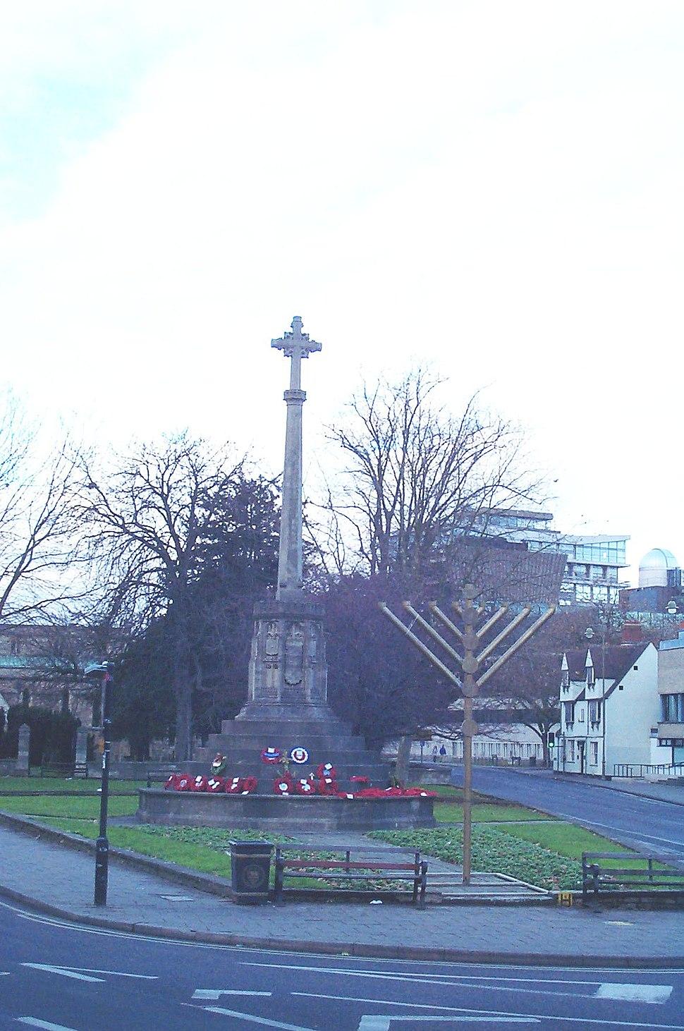Cross menorah Oxford 20051225