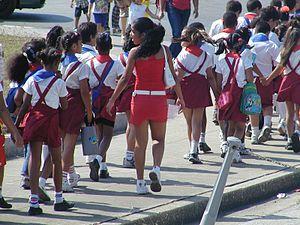 Education in Cuba - School children in Havana