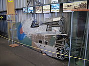 Curtiss P40 Tomahawk AH744 remains, NELSAM, 27 June 2015.JPG