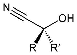 Cyanohydrin - The structure of a general cyanohydrin.