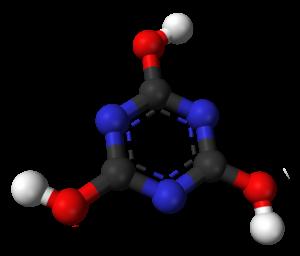 Cyanuric acid - Image: Cyanuric acid triol 3D balls