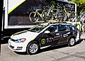 Cylance Pro Cycling team car at Stage 3 start in Elk Grove (34916935205).jpg