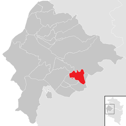 Location within Feldkirch district