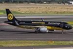 D-AIZR Eurowings Airbus A320-214(WL) coming from Prague (PRG - LKPR) @ Düsseldorf - Rhein-Ruhr International (DUS - EDDL) - 21.07.2016 (28367334012).jpg