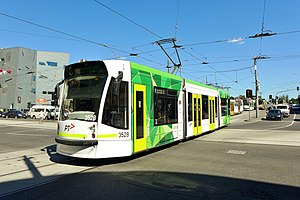 Transport in Melbourne - D1 class tram operated by Yarra Trams