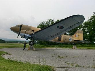 Otok, Metlika - Douglas C-47 Skytrain aircraft (World War II memorial) in Otok