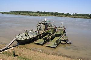 Serbian River Flotilla - Image: DJČ 411 412 RSBR 36 Šabac