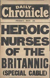 Daily Chronicle Heroic nurses of the Britannic 24 Nov 1916.jpg