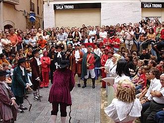 Santa Tecla Festival - Performance of the Ball de Dames i Vells, Santa Tecla Festival 2007