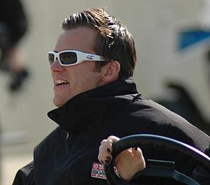Dan Wheldon at Indianapolis in 2007.