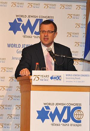 Dan Diker - Dan Diker addressing the World Jewish Congress Governing Board meeting in Jerusalem in June 2011 which confirmed him as secretary general of the organization